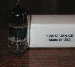 JAN GE 12AU7 Blackplate