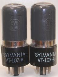 JAN Sylvania 6V6GT VT-107A