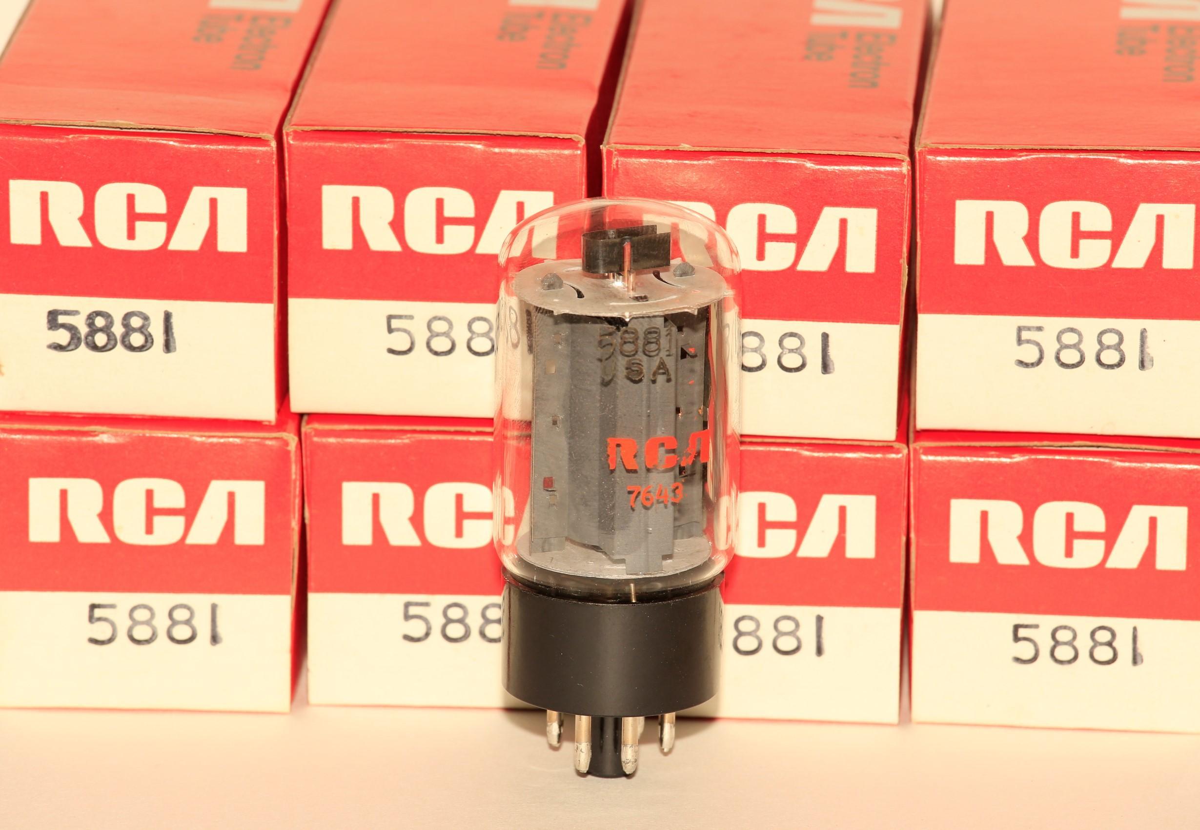Nos Sylvania 5881 Matched Pair Kca Nos Tubes Amplifier Repair